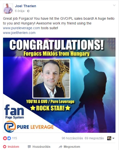 Pure Leverage Rock Star F. Miklos